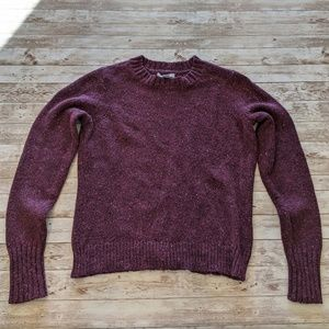 Bass Eggplant Purple Marled Pullover Sweater Large